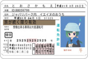 フルビット免許と化したともえちゃん(ゴールド免許ver.)