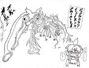 呪詛のセルリアン(線画)