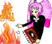 続きのない絵本を燃やされ、打ちひしがれるニコ