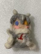 羊毛フェルト人形のイエイヌちゃん