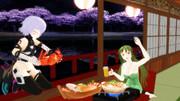 【Fate/MMD】屋台船でのお花見