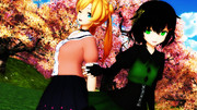 【MMD艦これ】春の散策、背に広がる桜並木【阿武隈静画イベ#2】