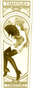 玉響、六導玲霞のカード7(モノクロ)【MMDマイナーモデル使用作】