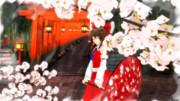 【東方ニコ楽祭・花見】夜桜巫女