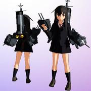 【MMDモデル更新】SSR式 艤装つき初霜改ver1.20