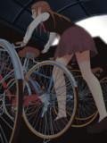 自転車置き場ガール