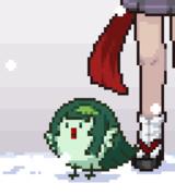 雪のずん子鳥