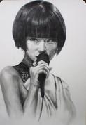 椎名林檎を描いてみた。