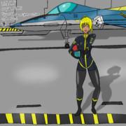 パイロットスーツのマキさん