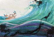シエスタ峠の風景…荒波に挑むフモー
