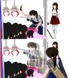 【MMD艦これ】赤城さん寝そべりぬいぐるみをガチで取りに行く加賀さん