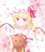桜とフランちゃん