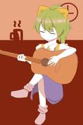 ギターを弾くDIYUSI