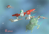 戦略級三台合体巨大メカMS「ジム3」