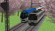 桜と近鉄電車 [ RailSim ]