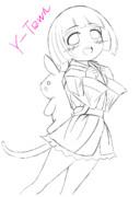 天使ほっぺ幼女(線画)