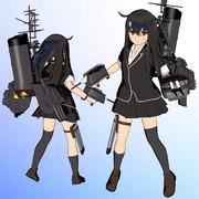 【MMDモデル更新】SSR式 艤装つき初霜改二ver1.20