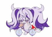 ズイパラを楽しむ護衛棲水姫ちゃん.gif