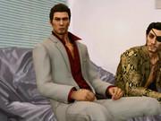 インタビューを受ける桐生と真島