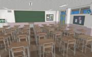 【MMD-OMF9】扇風機付き教室【ステージ配布】