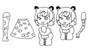 千賀式ジャガー 線画