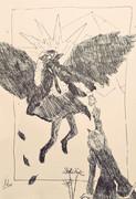 月の妖鳥、化け猫の幻