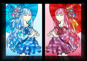 ステンドグラス風 琴葉姉妹