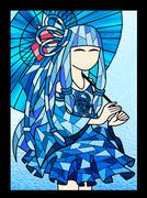 ステンドグラス風 琴葉葵