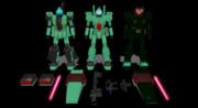 【MMD-OMF9】ミスター式ジェガンD型、エコーズジェガン、スタークジェガン