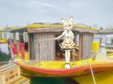 屋形船で働くマーゲイさん