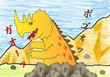 古代角竜アガタロス出現!
