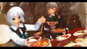 【第11回東方ニコ童祭EDイラスト】さくみょんカレーパーティ!