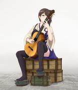 ギターを引く加賀さん 2