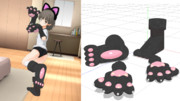 【MMD-OMF9】けもの手袋・ブーツセット