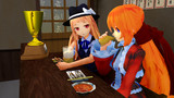【MMD】2525再生を達成したレア様とセルシアナさんが居酒屋で祝勝会
