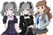 蘭子+制コレ奈緒 デレステ版立ち絵移植