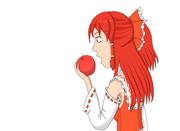 Bad Apple!! のカラー化 霊夢