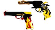 【OMF9】炎刀・『銃』【MMDモデル配布あり】