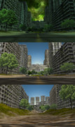 【MMD-OMF9】廃墟の町ステージ2種