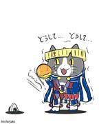 壺識別をする風来の現場猫