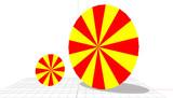 【MMD-OMF9】赤黄の集中線