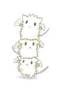 応援する3匹のネズミ