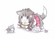 大和猫に潰されるグー提督