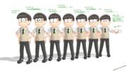 高校生の六つ子・チョロくんのメガネモーフのバリエーション