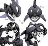 シャチ型潜水服のヘルメット