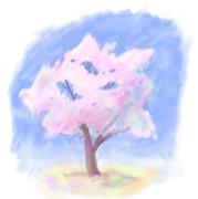 桜を描いた