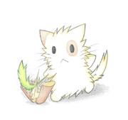 ネコじゃらしで薪割りをするにゃんこ