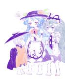 幼天子ちゃんと紫苑ちゃん(と針妙丸ちゃんレギュラー)