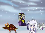 モモンガの幻想的な隠し芸