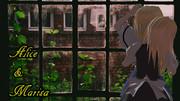 アリスと魔理沙 雨の日のアンニュイ